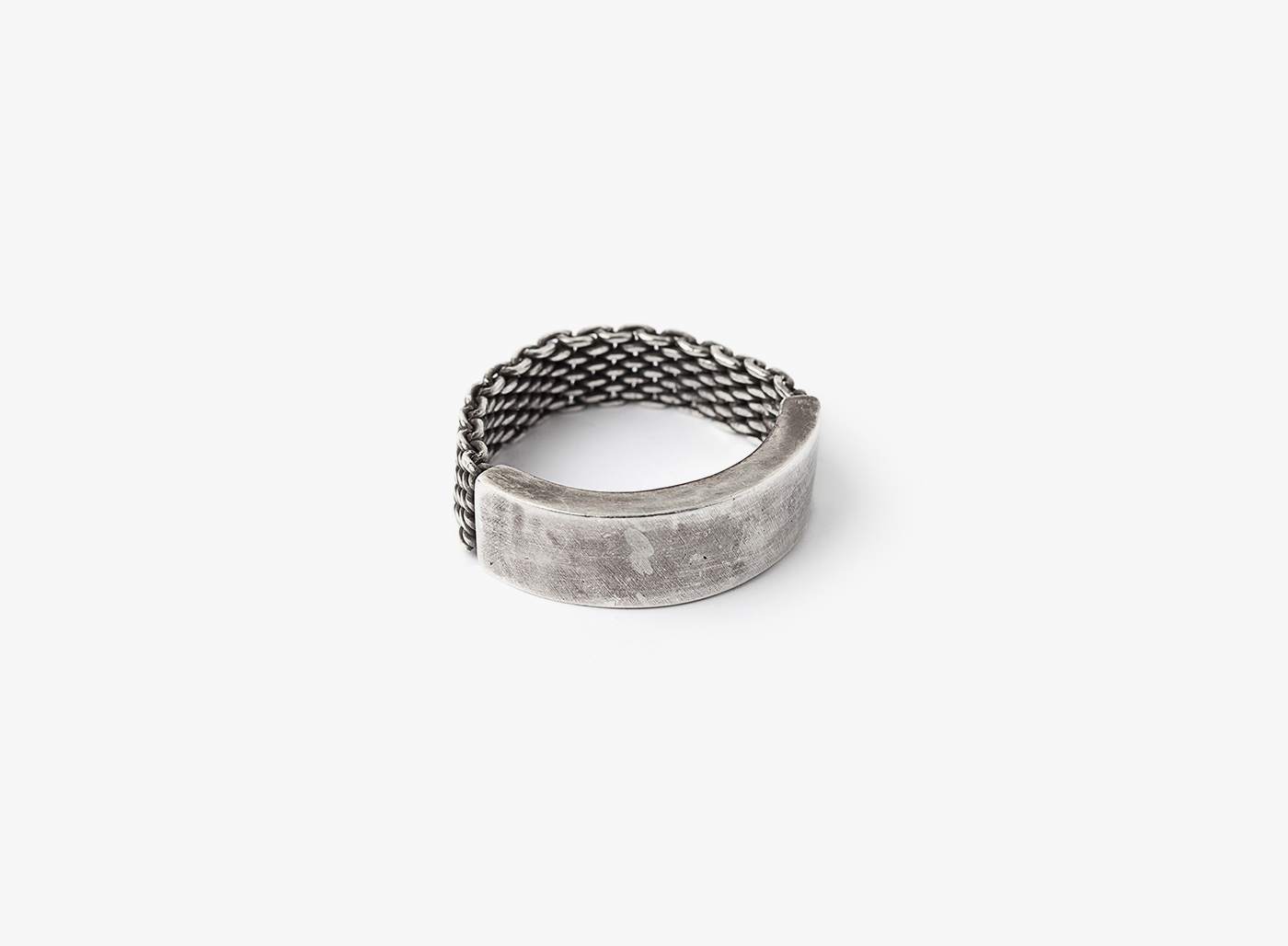 Image of Adjustable Mesh To Cuff Ring