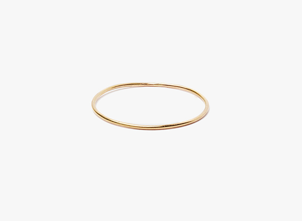 20 gauge 18kt rose gold