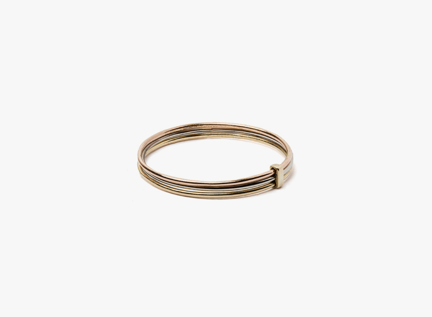 Image of 3-20 gauge 18k gold ring / connected