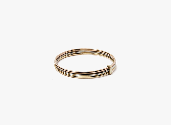 3-20 gauge 18k gold ring / connected