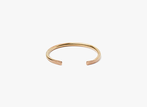 Image of adjustable 18kt rose gold 16 gauge