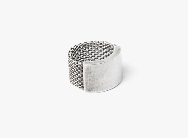 Adjustable Macro Mesh to Cuff Ring