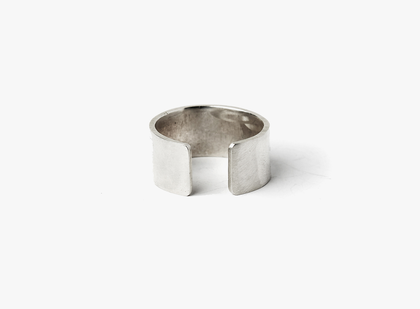 Image of Adjustable 1cm Sterling Silver 16 Gauge Ring