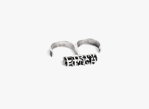 3D 'Dirty Bitch' Double Cuff Ring