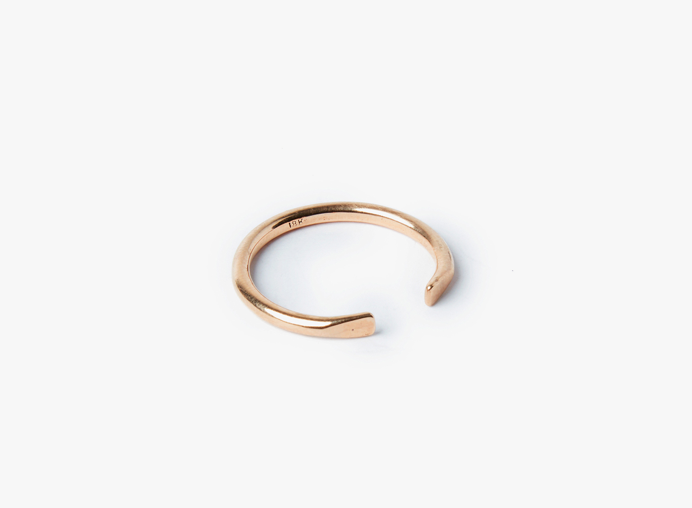 Image of Adjustable 18k Rose Gold 12GA Ring