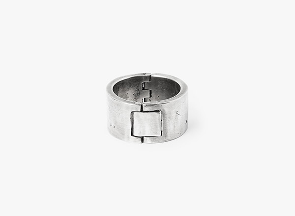 Image of Solid Rivet Ring 060