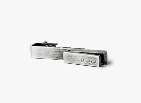 Image of Sterling Rectangular Locket Tie Bar