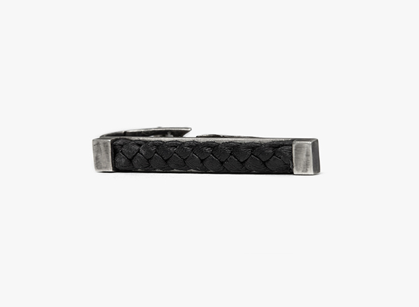 Image of Leather Band Tie Bar