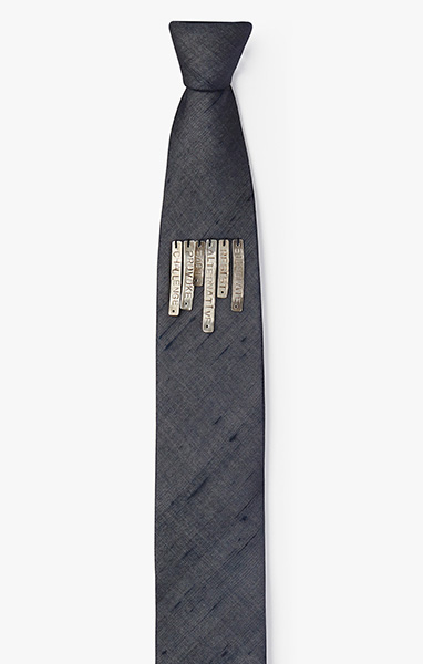'Dirty Words' ID in Row Necktie