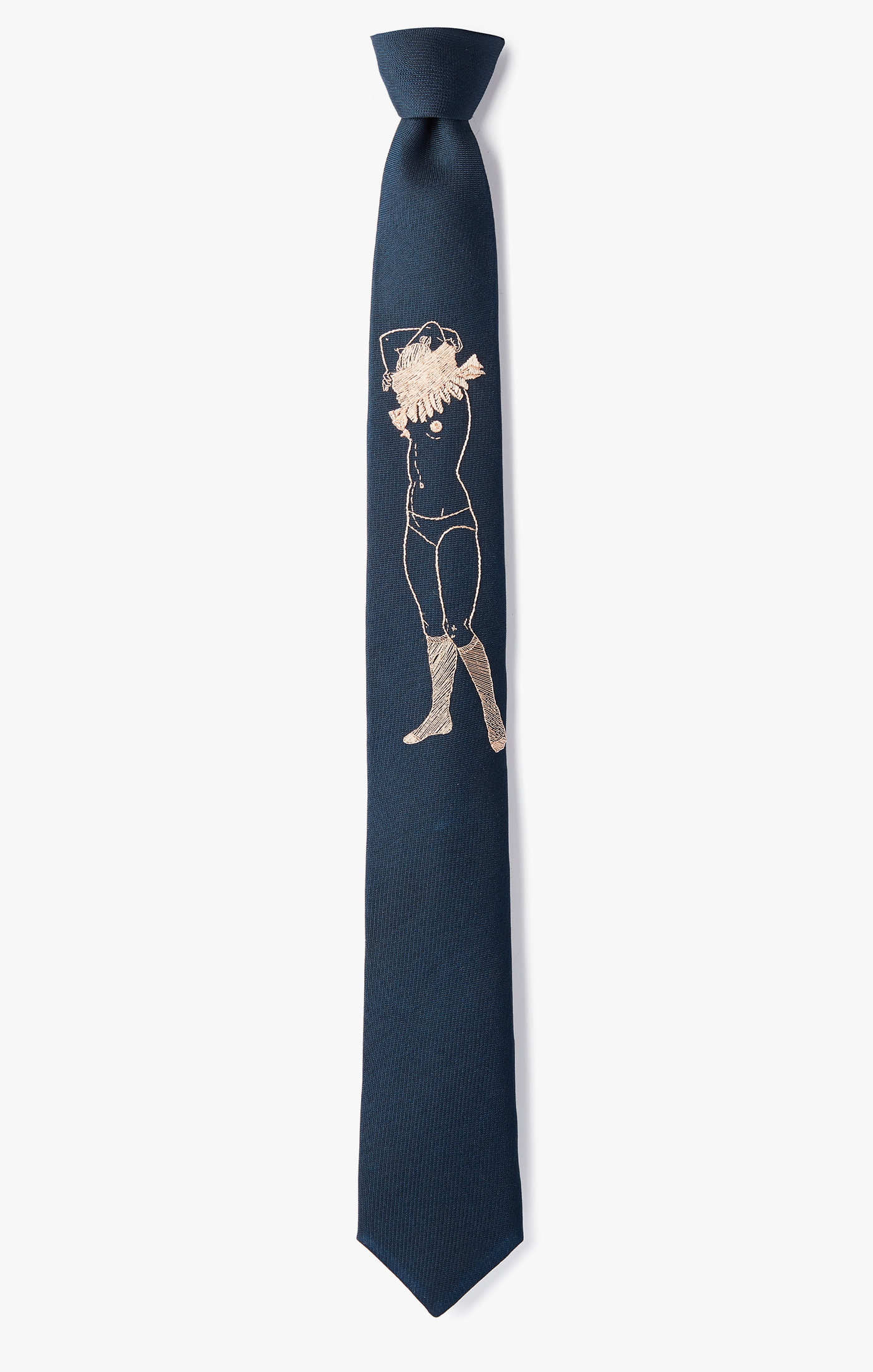 Image of Embroidered 'Wardrobe Change' Necktie