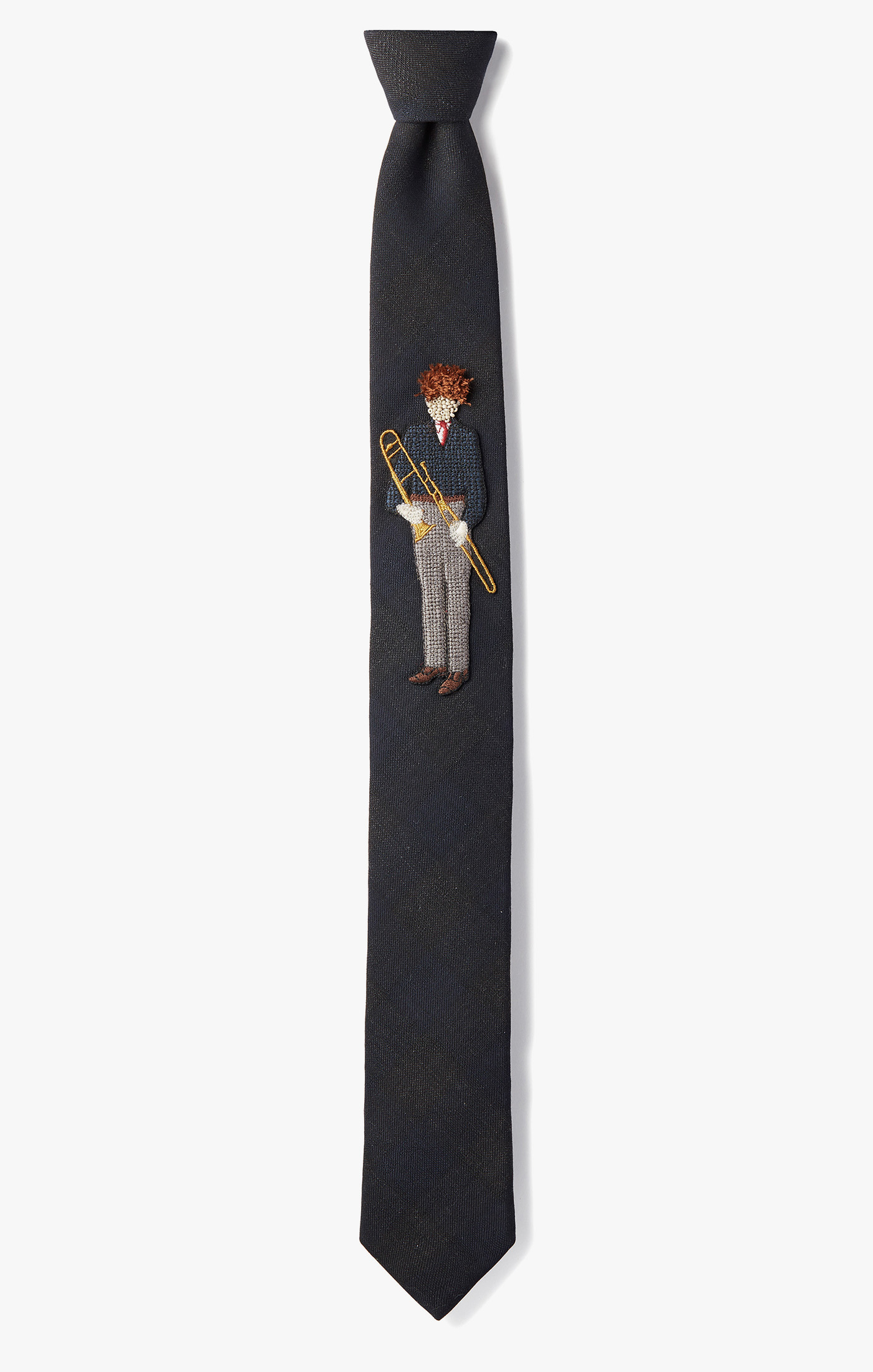Image of 'Trombone' Patch Necktie