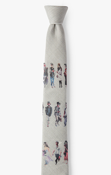Image of M. Hall / Figures Necktie