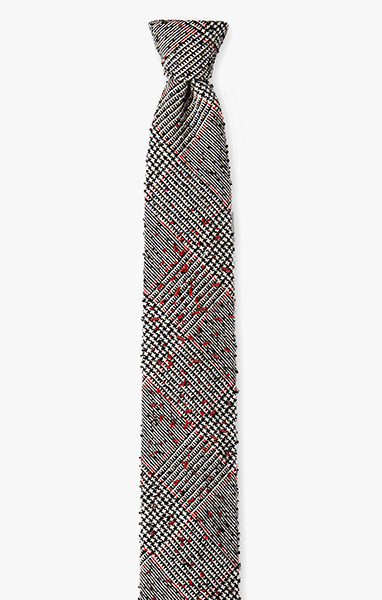 Image of Beaded Plaid Necktie