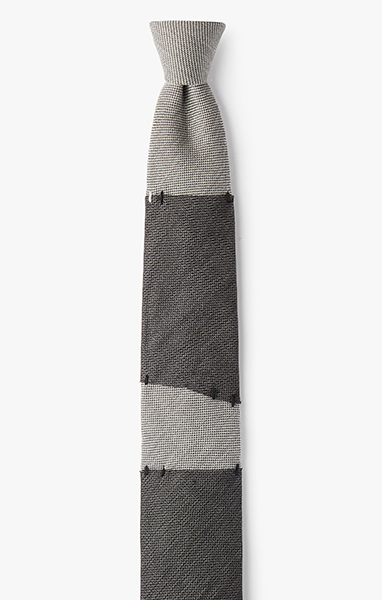 Image of Sectioned Tulle Overlay Necktie
