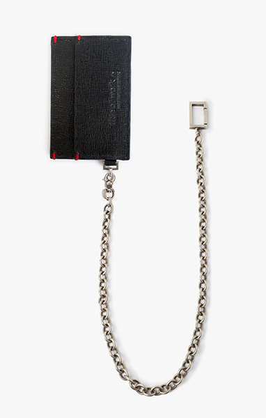 3 Pocket Card Holder w/ Cable Chain