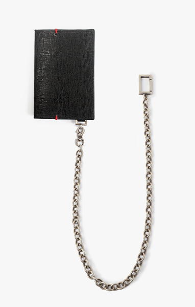 Folded Wallet w/ Cable Chain