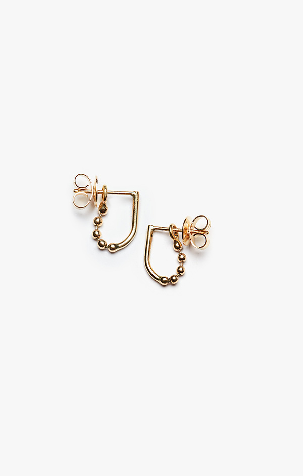 Image of Ball & Wire Earring 004