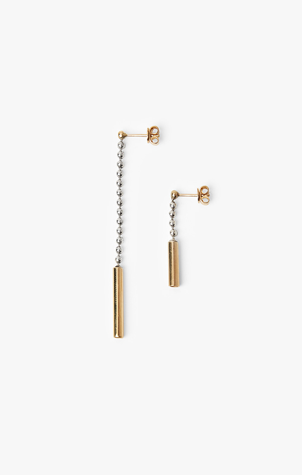 Image of Mixed Metal Earring 013